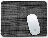 Mousepad   Black and White grid pattern