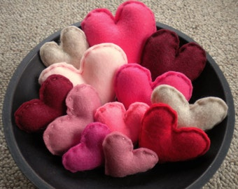 Traditional Felt Heart Bowl Fillers