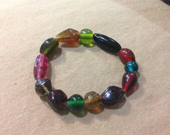 Colorful Bracelet One-of-a-Kind Beaded Bracelets- RAINBOW