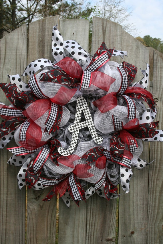 Alabama Wreath Mesh Wreath Houndstooth Wreath Mother S