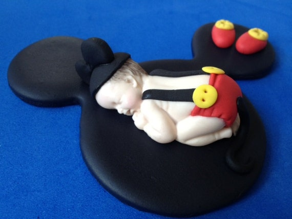 Cake Toppers Baby Mickey : Fondant mickey mouse baby cake topper
