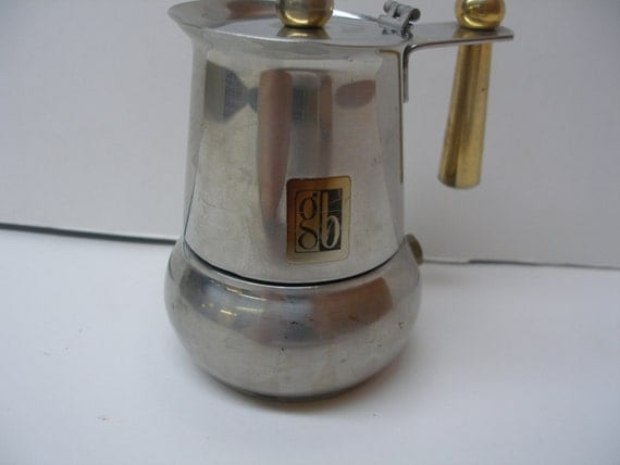 Italian Coffee Maker Gb : Guido Bergna GB Stainless Steel Vintage Italian Espresso