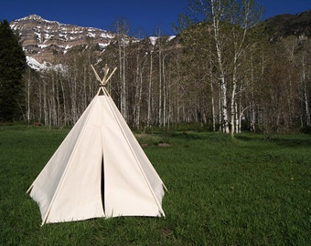 READY-TO-SHIP Canvas Teepee- 5 Sides *Poles Included* #148