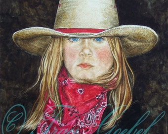 Western Decor-Painting Old West Cowgirl Print