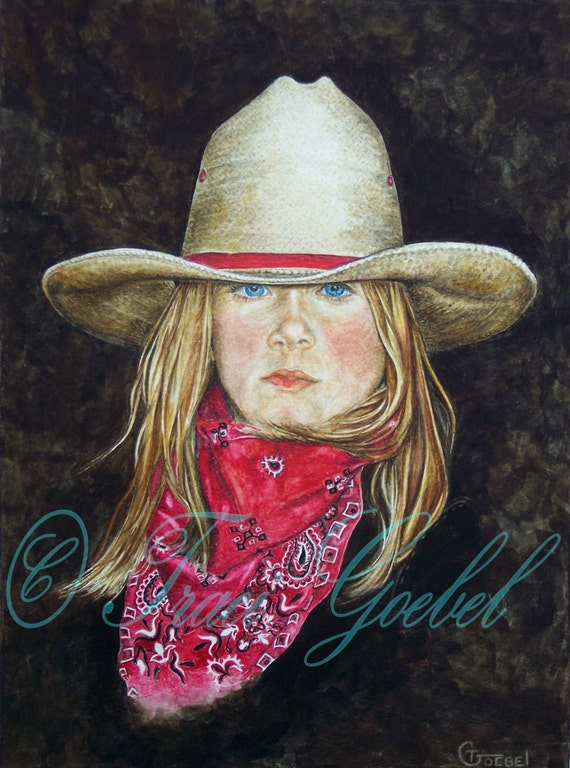 Western Decor-Painting Old West Cowgirl