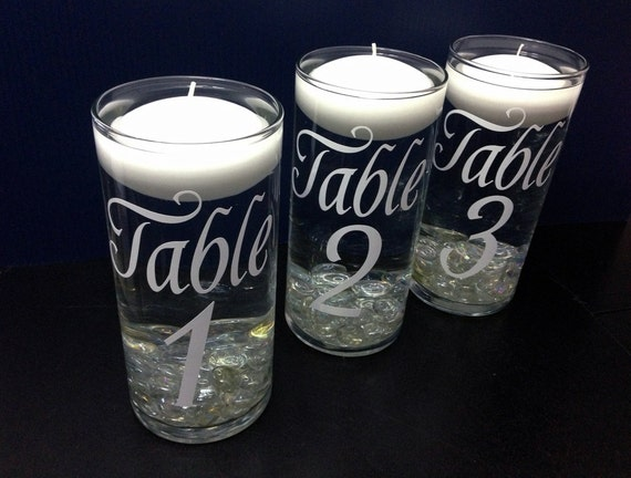 Items similar to table numbers wedding floating candle