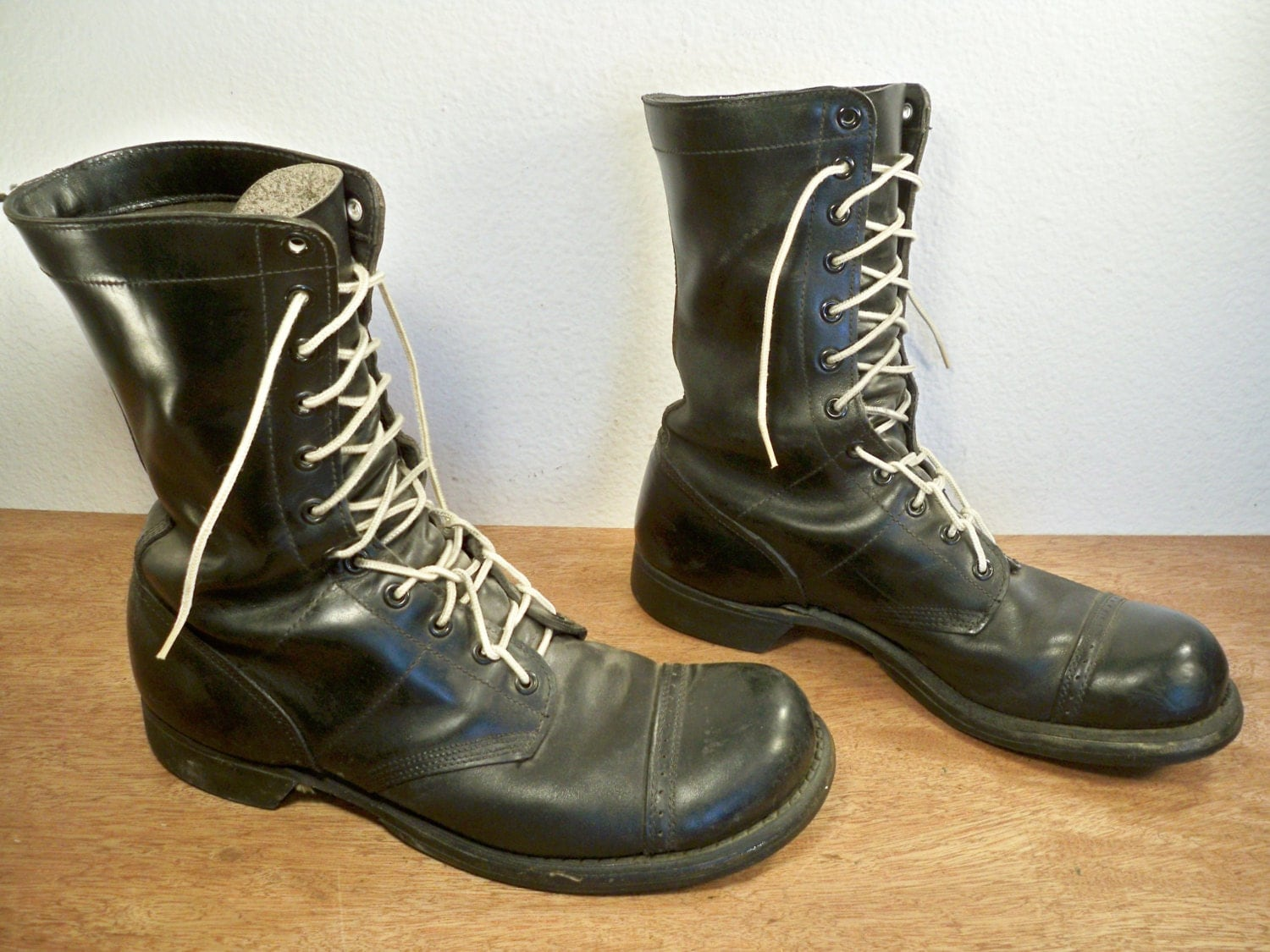 vintage corcoran black leather combat s