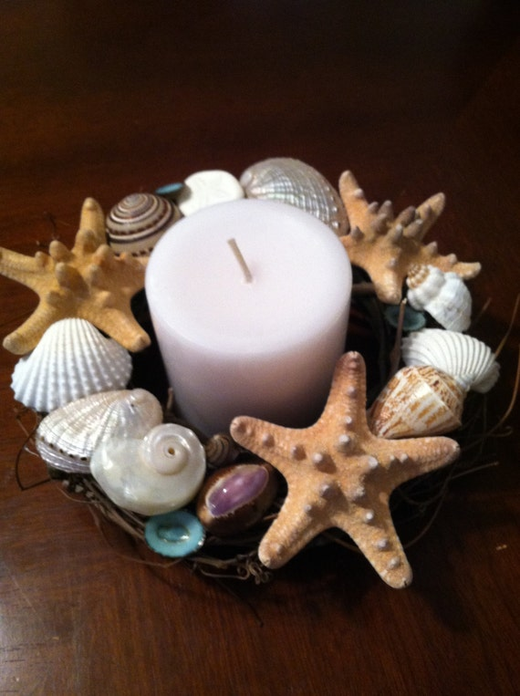 Beach Decor Seashell Candle Holder Shell Candle Holder