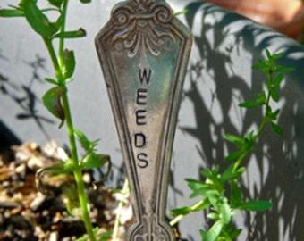 Weeds-Vintage Silverware Garden Marker