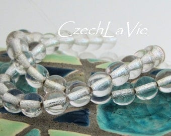 Round Beads 6mm Silver Lined Crystal (SL0003)