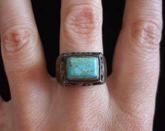 ON SALE Turquoise and Sterling Ring
