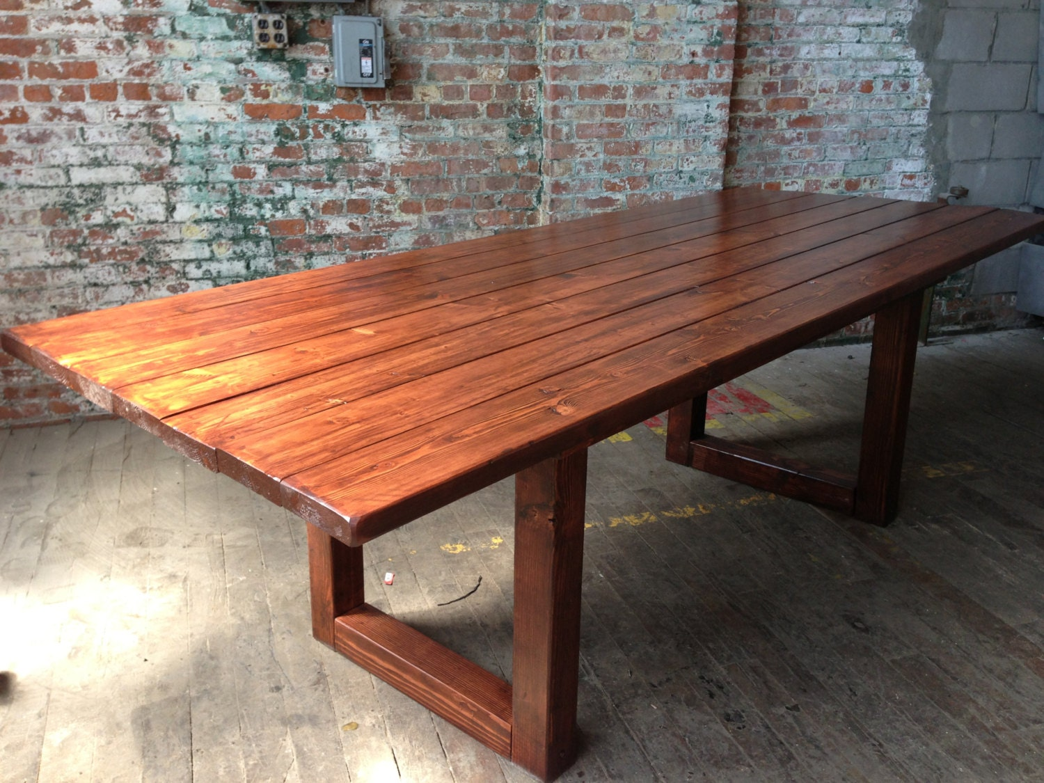 Rustic wood dining conference table Rustic wood dining table