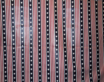 Patriotic Fabric, Stars And Stripes Fabric, Red White Blue, American Fabric, July 4th/Memorial Day (1/2)Yard 18'' Length, 54'' Width