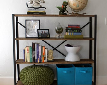 "Reclaimed Wood Bookcase - ""The Saunders"""