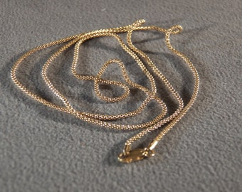 """Vintage Sterling Silver Yellow Gold Overlay Italian Unique Tightly Woven Mesh Fancy  Link Necklace Chain 30"""""""
