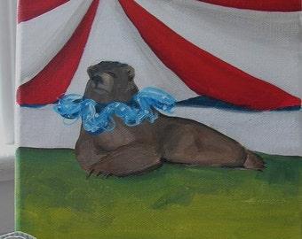 The Circus Bear - 8 x 8 Original