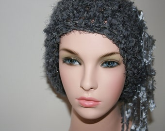 No: 12 Freeform crochet hat, wearable art, OOAK