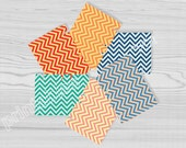 chevron treat bags template set of 6 spring colors party printables instant download