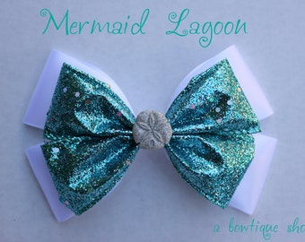 mermaid lagoon hair bow