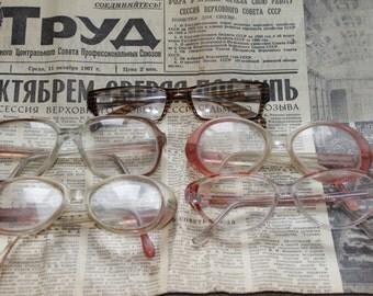 Set of 5 Vintage Soviet eyeglasses