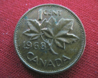 CANADA One Cent 1968     -5-