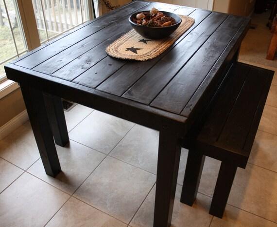 6 ft unique primtiques primitive black pub style tall kitchen dining bar table with two - Primitive Kitchen Tables