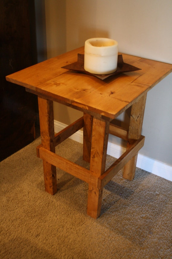 unique primtiques paprika stained tall end hall accent table. Black Bedroom Furniture Sets. Home Design Ideas