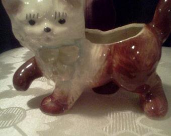 cute kitty flower pot