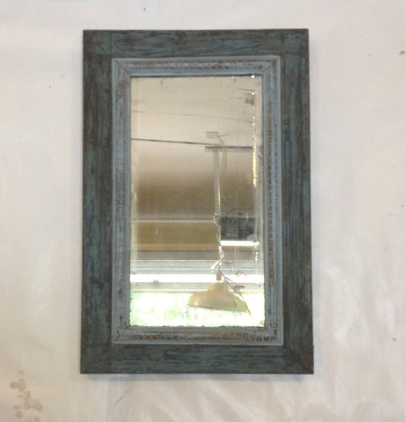 In stock sale home and decor two shades of by for Teal framed mirror