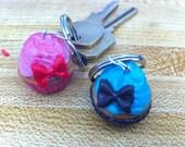 Cupcake keychain with bow