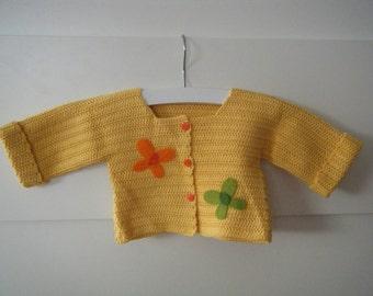 Crochet cardigan with butterflies