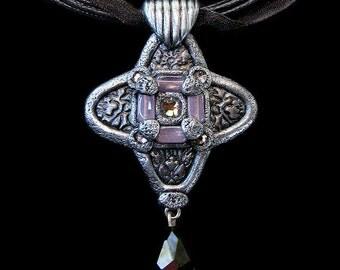 Unique Romantic Necklace with Gothic Medieval Renaissance Flair