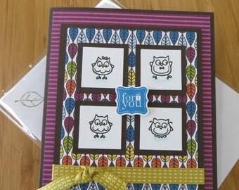 Birthday card owls