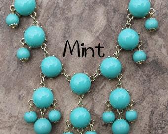 Mini Bubble Necklace, Mint bubble Necklace, JCrew Bubble Necklace