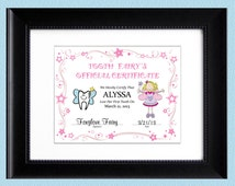 Children's Personalized Tooth Fairy Certificate - (Girl) - Printable Digital File