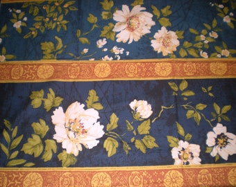 """Vintage Drapery Fabric. Greeff fabric.  """"Empress Peony""""   from a Golden Odyssey. Furnishing Fabric."""