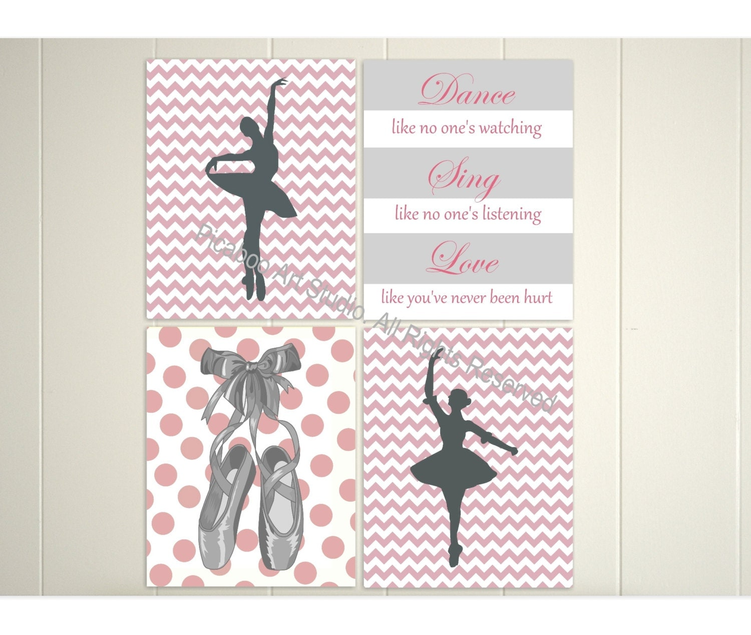 Ballerina Wall Art ballerina wall art chevron art ballet dancer inspirational