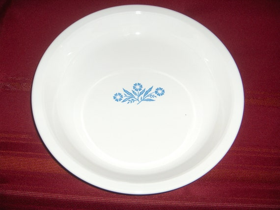 9 Inch Corning Ware Cornflower Blue Pie Plate By Ourleftovers