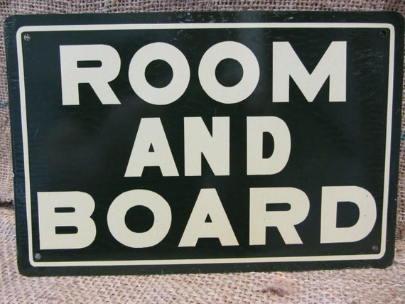 vintage metal room and board sign antique old store. Black Bedroom Furniture Sets. Home Design Ideas