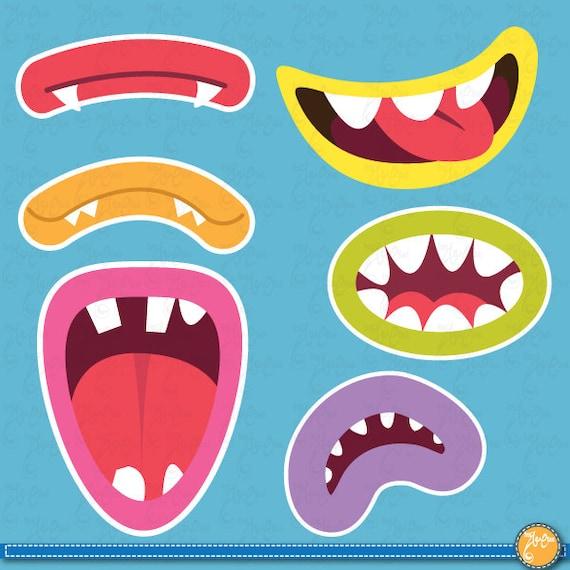 Clip Art Photo Booth Clip Art cute monsters mouths digital clip art setmonster grinphoto booth il 570xn