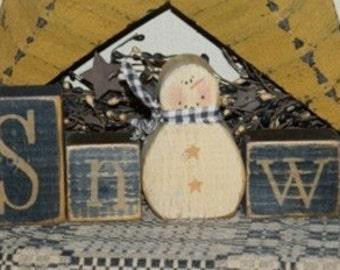 SNOW SNOWMAN primitive sign