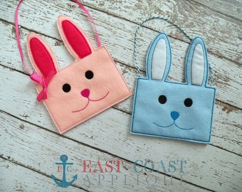 BUNNY TREAT BAGS Machine Embroidery Design
