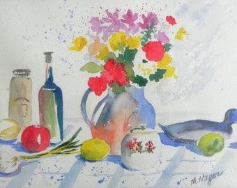 Original Watercolor Still Life