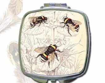 Mirror Compact, Bumble Bee Design
