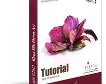 Tutorial how to make silk brooch 'Margaret' using genuine professional tools /PDF ebook/