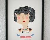 Print -Flapper Girl-