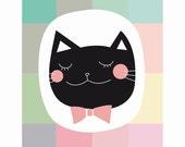 EUGÉNIE - black cat - Print of my original illustration