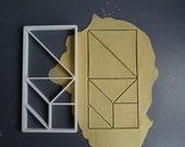 Tangram cookie cutter, 3D...