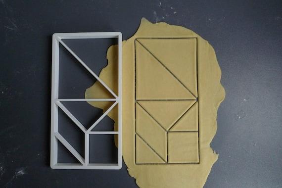 Tangram cookie cutter, 3D printed