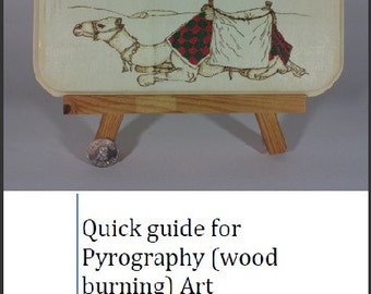 Quick guide for Pyrography (wood burning) Art PDF file plus video instruction links